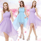 Ever Pretty Round Neckline Ruched Bust Asymmetric Party Dress 05002