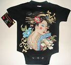 NWT BLACK JAPANESE GEISHA GIRL IN INFANT BODYSUIT AND TODDLER TEES