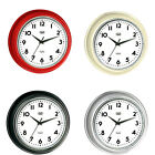 Trevi Retro Wall Clock Silent Ticking 32cm 4 Colours Available FREE DELIVERY