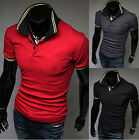 Men's Comfy BULL POLO Shirt Short Sleeve Slim Fit T-Shirts Top Tee Shirts CA LA
