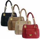 Women LYDC Designer Charm Bag Leather Style Quilt Ladies Tote Satchel Handbag