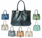 Ladies LYDC Tassel Hobo Boutique Shoulder Bag Women Leather Style Studs Handbag