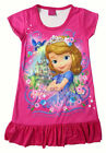 Disney Sofia the First Girls Pajama Night Gown Sleepwear Dress 3-10 Yrs Hot Pink