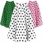 Hell Bunny Adelaide Polka Dot Vintage 50s Flared Swing Summer Skirt