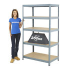 Garage Shelving Unit 350kg UDL Racking Workshop Storage Warehouse BiGDUG