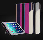 New Luxury Ultra Thin Stripes Leather Smart Case Cover for iPad 2 3 4 Mini Air 2