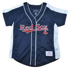 MLB Boston Red Sox Eleanor Junior Womens Ladies Jersey Button Up Baseball
