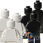 Lego 3x Plain Minifigures White and Black