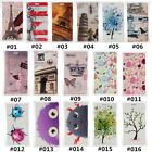 Classic Cartoon Vintage PU Leather slot wallet flip Case Cover For Samsung #2