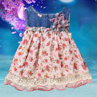 Baby Girls Newborn Kids Floral Skirt Summe Princess Chiffon Layer Denim Dresses