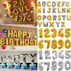 """16""""/42"""" Silver/Gold Letter&Number Foil Balloon Birthday Celebration Party Decor"""