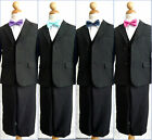 LTF Boy black red purple pink coral blue bow tie formal party suit all sizes