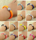 NEW Hot Jewelry fashion lots Style Leather Cute Charm Bracelet Unsex Friendship