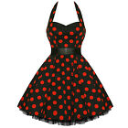 Hearts and Roses London Red Polka Dot Pinup Vintage Rockabilly Mini Swing Dress