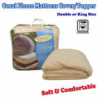 WINTERS Quality Soft Coral Fleece Mattress Underlay Topper Protector DOUBLE KING
