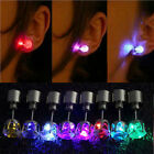 1PC Charm LED Earring Light Up Crown Glowing Crystal Stainless Ear Drop Ear Stud