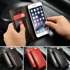 Luxury Magnetic Flip Men's Leather Wallet Card Cover Cases For iPhone 5s 6 Plus