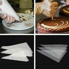 100PCS Disposable Icing Piping Cake Cupcake Decorating Pastry Bags Transparent