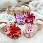 New Baby Girls Sandals Shoes Skidproof Summer Cool Toddlers PU Leather 21#-30#