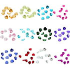 50PCs Charms Fit Living Heart Birthstone 5mm 32