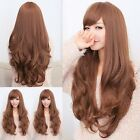Chic Lady Wig Long wavy Curly hair full wig cosplay party Heat Resistant wig