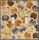 Metal Light Switch Plate Cover Kitty Cat Faces Cat Home Decor Cat Home Decor