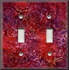 Switch Plates And Outlet Covers - Batik Floral - Red Purple - Home Decor