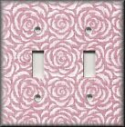 Switch Plates And Outlet Covers - Vintage Rosette - Pink Rose - Home Decor