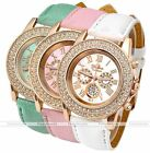 Fashion Women Lady Geneva Crystal Rhinestone Gold Metal Alloy Quartz Wrist Watch
