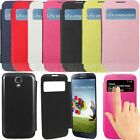 Flip Leather Window View Hard Battery Case Cover For Samsung Galaxy S4 IV i9500