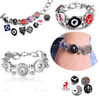 New Fashion Women Floating Snap-It Charms Locket Chunk Button Bracelet Jewelry