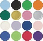"""ROUND Paper Party Plates 7"""" & 9"""" Plain Solid Colours Tableware Catering Events"""