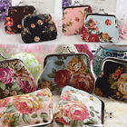 Mini 9*7cm Lady Women Floral Small Purse Coin Wallet Bag Package 5Colors