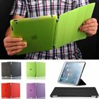Genuine Ultra Thin Magnetic Smart Cover + Back Case For iPad 2 3 4 Generation