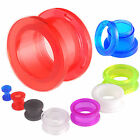 Pair Acrylic flesh tunnels ear plugs gauges stretching 9HET-SELECT SIZE&STYLE