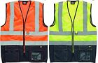NEW Dickies Hi Visibility Executive Zip Vest  Multi Pocket Waistcoat EN471 S-4XL