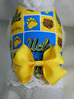 DOG CAT FERRET Harness~NCAA UCLA Team BRUINS Cheerleader YELLOW Bow & Lace