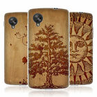 HEAD CASE WOOD ART SILICONE GEL CASE FOR LG GOOGLE NEXUS 5 D820