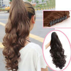 Tie Up Wrap Around Claw On Binding Ponytail Clip In Hair Extensions Pony Tail 5I