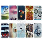 For Apple iPhone Synthetic Leather Vintage ID Card Holder Media Stand Case Cover