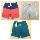 NWT Gymboree Boys Soft Knit Shorts Gray Teal or Red/Blue Size 4 5 6 7 8 10