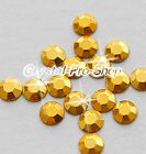 Gold Iron On Faceted Hot Fix Rhinestuds Flatback Shine Gems Tool 2mm 3mm 4mm 5mm