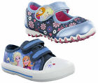 New Small Girls Disney Frozen Elsa Anna Canvas Trainers Pumps Velcro Shoes 6-12