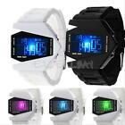 Waterproof Mens Womens Digital LED Sports Silicone Bracelet Aircraft Wrist Watch