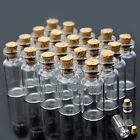 10/30/50 0.5ml 18x10mm Mini Glass Bottle Vial with Cork Stopper Storage Pendant