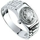 9 Carat White Gold Square Top Men's Ring