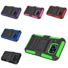 For Samsung Galaxy S6 Hybrid Hard Soft Heavy Duty Armor Case w/ Holster Stand