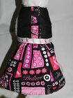 DOG CAT FERRET Couture Harness Dress~BCA Breast Cancer Awareness HOPE Ribbon