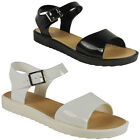 NEW WOMENS LADIES STRAPPY FLATFORM SUMMER FLAT FASHION SHOES SANDALS SIZE