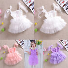 Girls Baby Flower Princess Party Wedding Bridesmaid Tutu Dress Age 2-6 Years Old